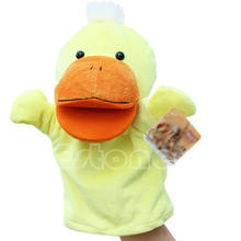 Child Kids Cute Plush Velour Animals Hand Puppets Chic Designs Learning Aid Toys(China (Mainland))