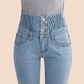 2016 Jeans Womens High Waist Elastic Skinny Denim Long Pencil Pants Plus Size 40 Woman Jeans