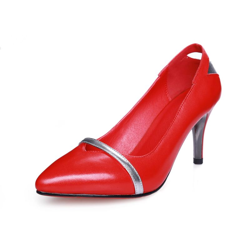 high quality fashion high thin heels high heels red black pumps pointed toe dress women shoes party sexy wedding shoes pumps<br><br>Aliexpress