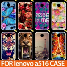 Buy Hot Sale high diy painting colored tiger lion cat flowers eiffel towers design Hard Back Cover Case Lenovo A516 for $1.50 in AliExpress store