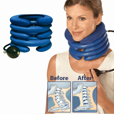Cervical Neck Traction Neck Pillow Massager Magic Air Cushion Tight Muscles Headaches Tension Head Shoulder Stiffness(China (Mainland))