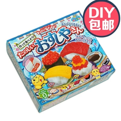 1 Box Kracie DIY Sweat Sushi Japanese Food Japan Imported Candy Snack Popin Cook Sweets Sushi Candy Toys For Kid Christmas Gift(China (Mainland))