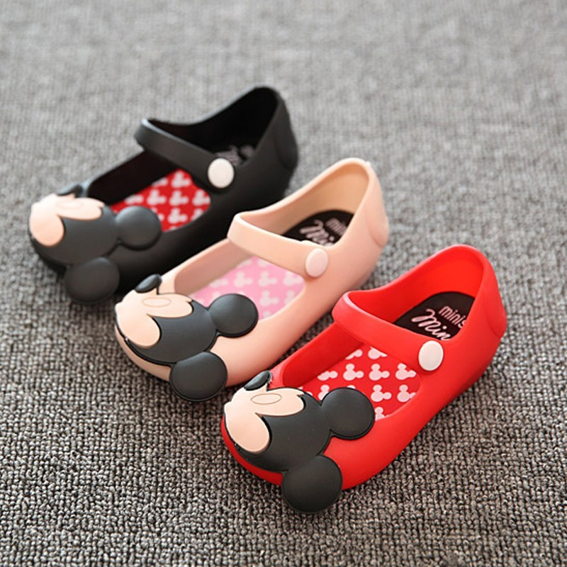 children beach Sandals Mickey Minnie kids toddler baby little girl crystal jelly shoe footwear candy smell style mini melissa(China (Mainland))
