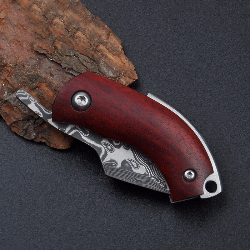 Buy GP Folding Damascus Knife 60HRC Small Pocket Knife Utility Outdoor Camping Hunting GIFT Knife Tactical Survival EDC HAND Tools cheap