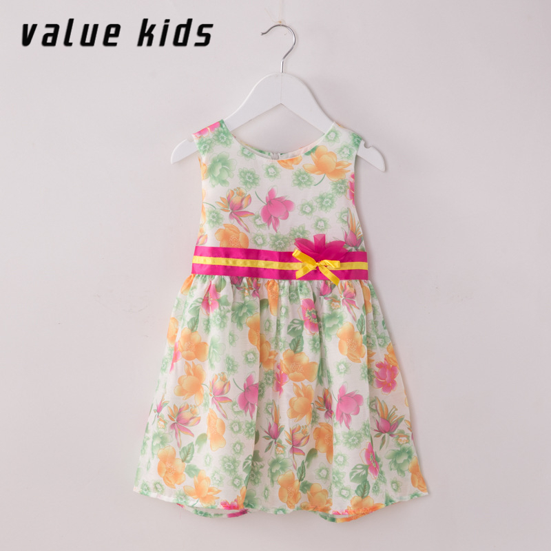 Value Kids girls dress baby girl summer clothing teenage girls beach dresses for 14 years children frocks tennis dress NQ-80(China (Mainland))