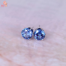 2015 New Fashion Round Favorite Design 18 K Gold Plated Studded Candy Crystals CZ Diamond Stud