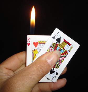 April Fool's Day Poker electric lighter shock  novelty tricked toys  freeshipping