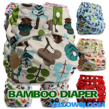 Бамбук стирать ткань пеленки младенца пеленки карман подгузник ткань крышка обертывание ...