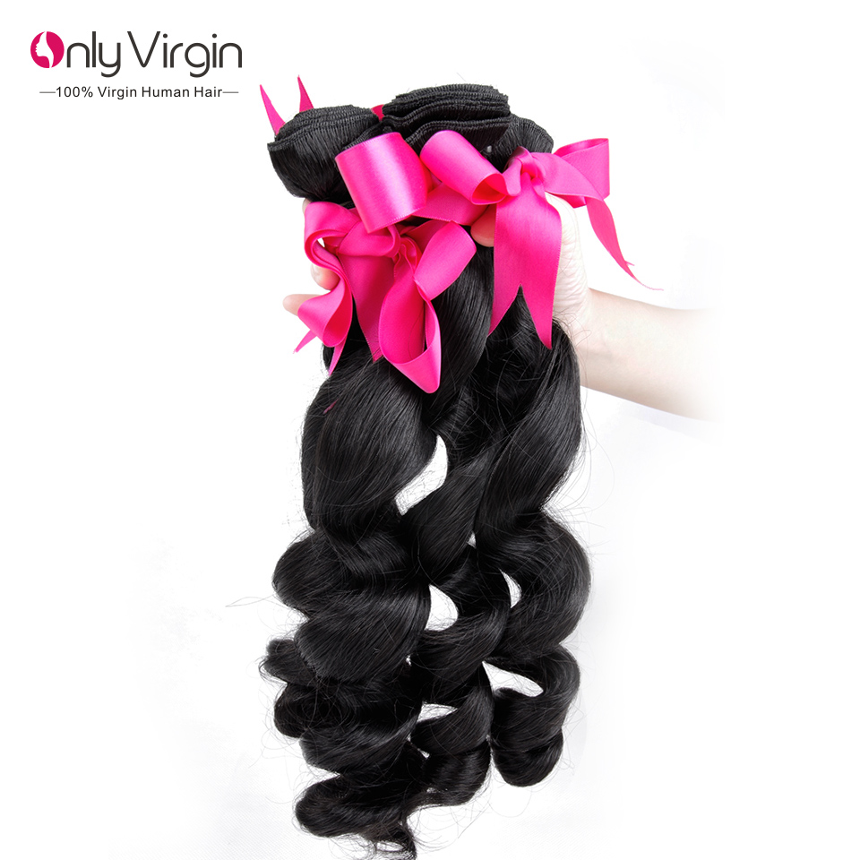 Virgin Peruvian Loose Wave 3Pcs Unprocessed 7A Loose Wave Peruvian Hair Virgin Hair Peruvian Loose Wave Virgin Hair Bundle