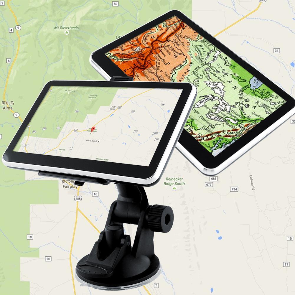 NEW 5'' Inch 128MB FM Touch Car Auto Portable GPS Navigation Navigator Roadmate SAT NAV NA Free Maps(China (Mainland))