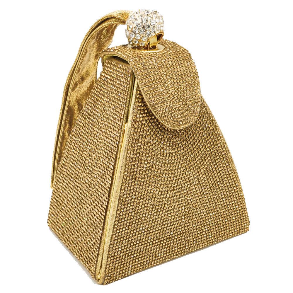 Sparkling Diamond Women Mini Evening Clutch Wristlets Money Bag Wedding Purses
