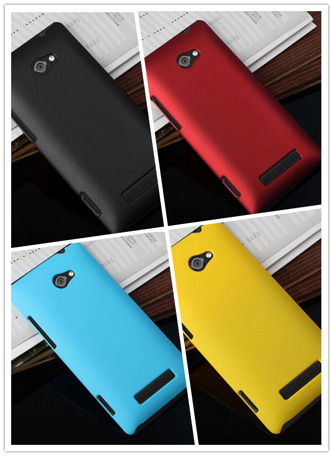 Free shipping High Quality Colorful Rubber Coated Matte Hard Case Skin Back Cover For HTC Verizon Windows Phone 8X(China (Mainland))