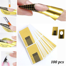 100pcs roll Professional Nail Tools Gel Nail Extension Sticker Nail Polish Curl Form Tips Nail Art