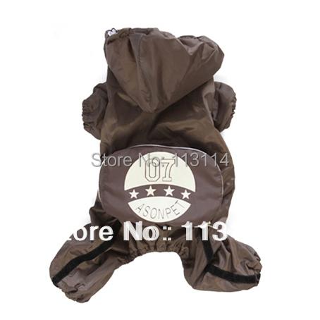 Brown Pet Rain Coats Jacket Foldable Waterproof Dog Clothes Pet Apparel XS S M L XL(China (Mainland))