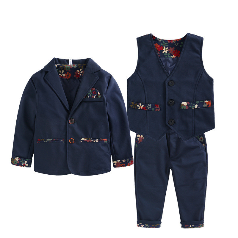 2016 Kids Formal Wedding Clothes Suit Baby Boy Blazer Set