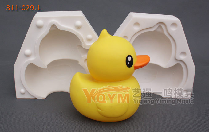 YQYM New Arrival free shipping USA large size silicone duck mold fondant duck decorating tools big yellow duck mold(China (Mainland))