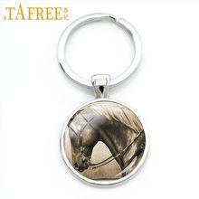 TAFREE 2018 جديد بنتيوم الحصان المفاتيح معطف اللون قليلا الأبيض أشعث وبراقة الفن جولة الزجاج كابوشون للنساء مجوهرات A23(China)