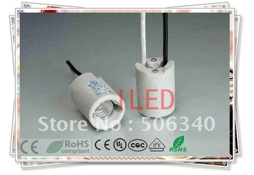 Fast shipping,porcelain lamp base E12 100pcs/lot,lamp holder E12.high quality and good serves,CE & RoHS & UL,low price(China (Mainland))