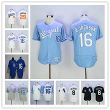 2016 Mens bo jackson jersey jersey Throwback Stitched White blue black gray Jerseys(China (Mainland))
