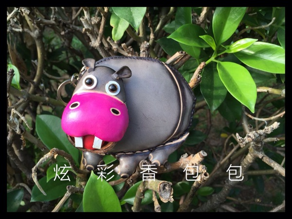 Laugh off the front teeth stay adorable brother Hippo buckteeth horse leather leather hand painted change Satchel<br><br>Aliexpress