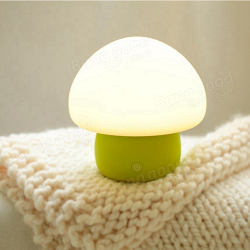 Mini Portable Original Emoi Smart LED Colorful Mushroom Night Light Touch Sensor Atmosphere Table Lamp For Beedroom Decoration(China (Mainland))