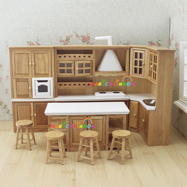 Acheter maison de poup es meubles de for Ensemble de cuisine en bois