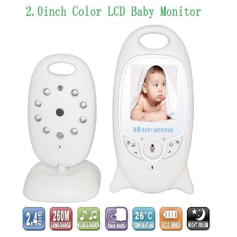 buy 2016 hot baba electronics video baby monitor 2 4ghz ir nightvision. Black Bedroom Furniture Sets. Home Design Ideas