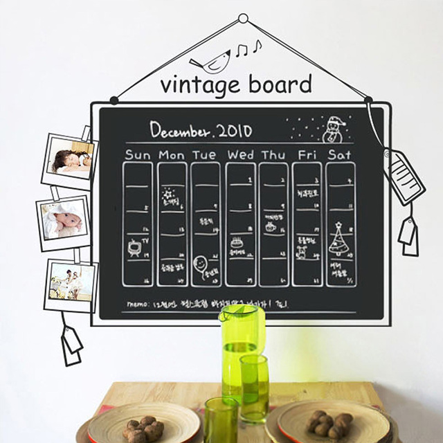 Wall stickers eco-friendly waterproof small blackboard stickers decoration blackboard