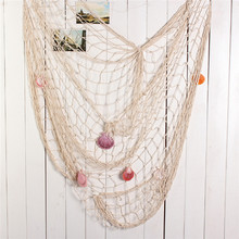 Buy Shell Nets Background Wall Decoration Fishing Net Sea Shell Starfish Hanging Home Wall Decoration Nautical Ocean Theme for $5.54 in AliExpress store