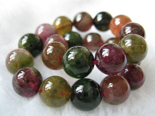 Natural tourmaline bead bracelet 22g girlfriend birthday present gifts(China (Mainland))