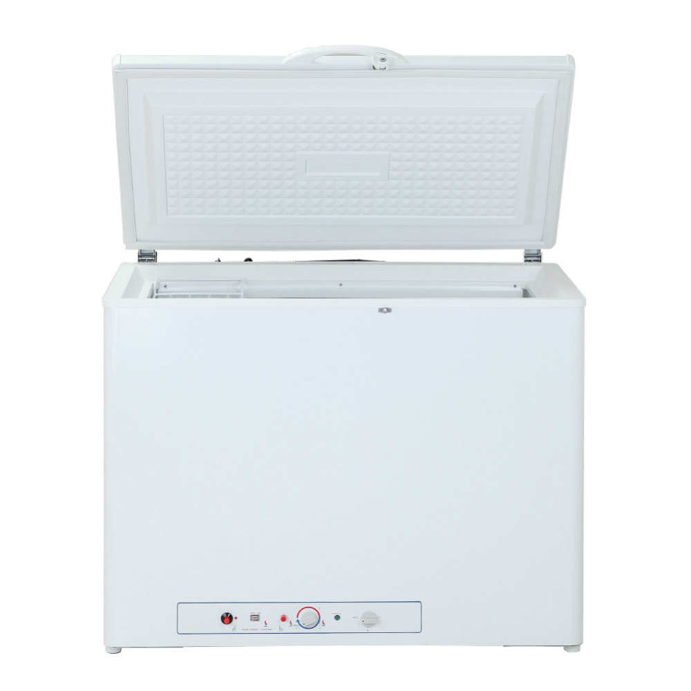 Smad 191L LPG Gas 110V/220V Chest Freezer for Ice Cream Large Capacity Electric Low Noise Absorption Deep Freezer Restuarant(China (Mainland))