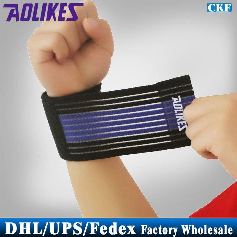 Free DHL Fedex 2000pcs/lot Sport Cotton Elastic Bandage Hand Sport Wristband Gym Support Wrist Brace Wrap Fitness(China (Mainland))