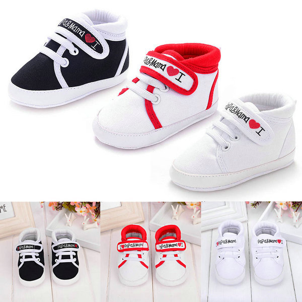 Lowest Price New Cute Heart-shaped I Love Mum And Dad Lovely Baby Shoes Girl Soft Bottom Footwear Newborn Baby Shoes