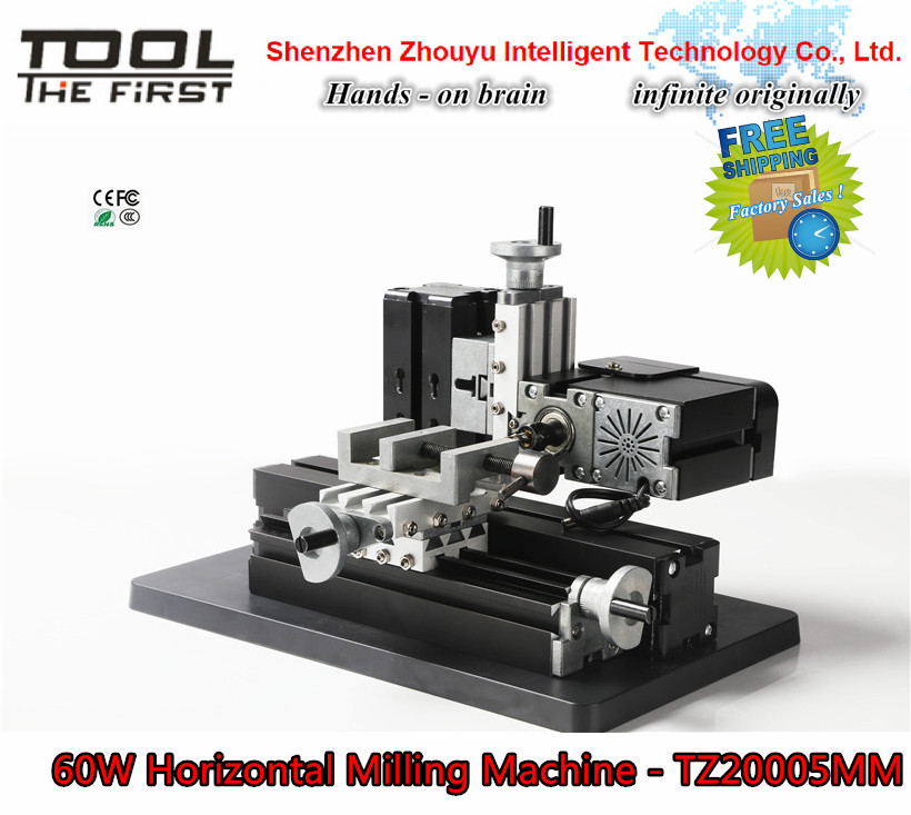 Factory Sales Mini Metal Horizontal Milling Machine teach safe Intelligent cooltool as wood-modelmaking for hobby,child gift(China (Mainland))