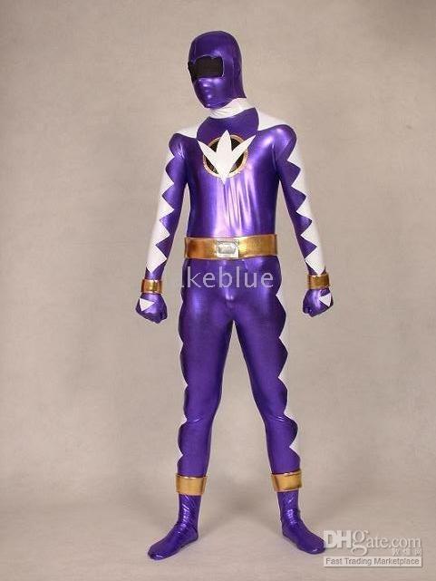 free shipping full bodysexy very hot sell   new purple and white hero zentai catsuit costume