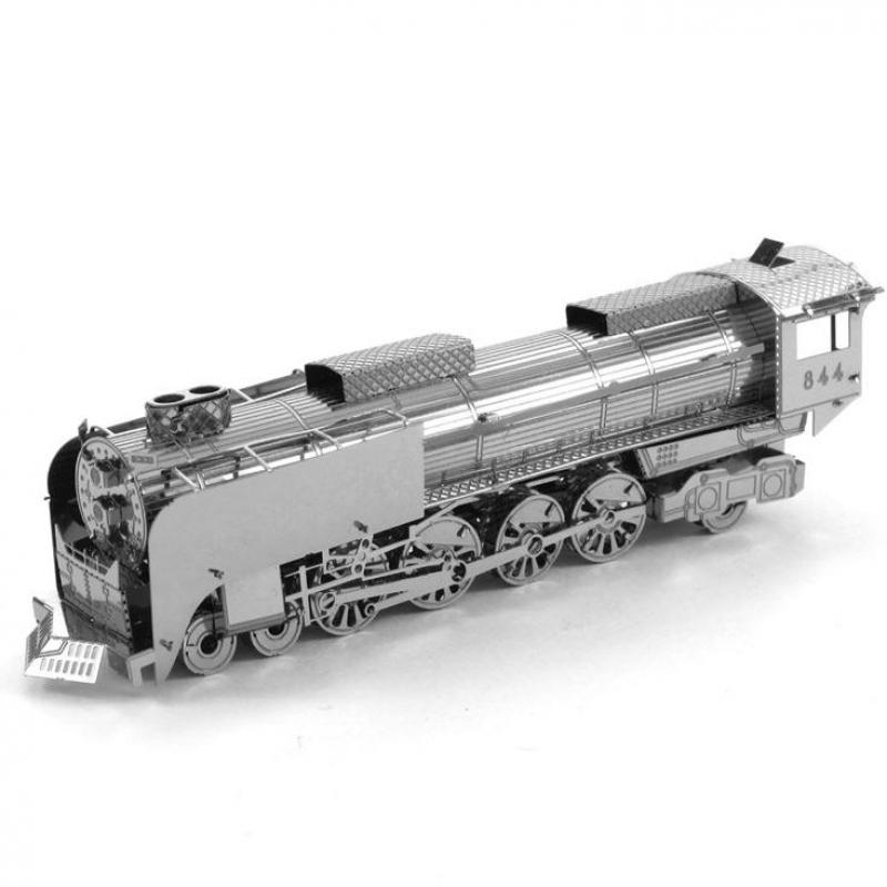 Hot Sale 3D Metal Puzzles DIY Vehicle Scale Steam Locomotive Model For Adult Metallic Jigsaw Puzzle Children Toys(China (Mainland))
