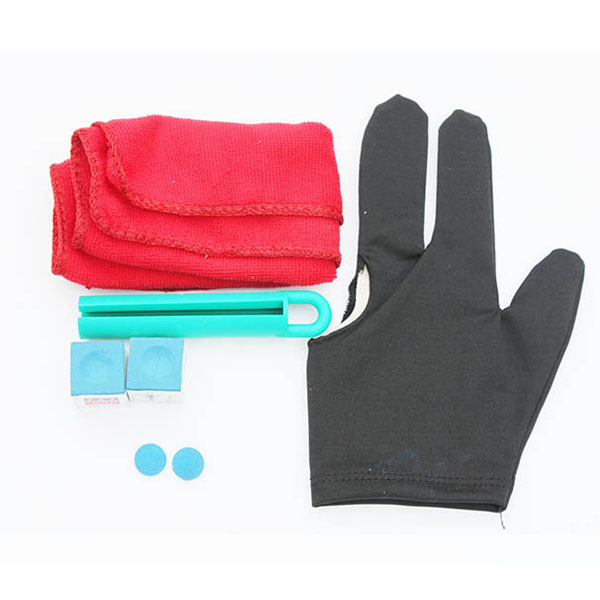 Snooker Pool Cue Accessories Set Tips/Chalk/Gloves/Wipe Cue Cloth/Billiard Boom Cues Accessories(China (Mainland))