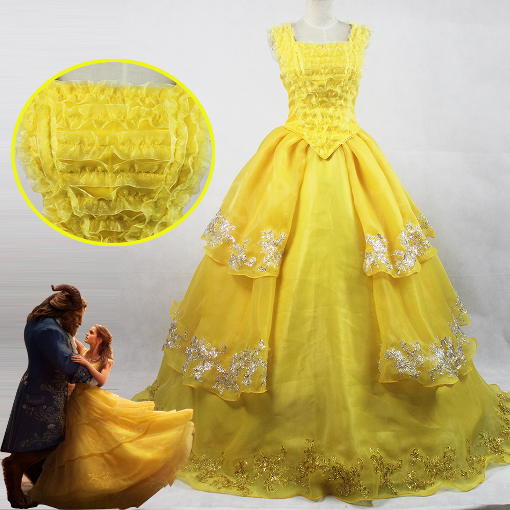 Acquista all 39 ingrosso online giallo princess dress adulti da grossisti giallo princess dress - Robe la belle et la bete adulte ...
