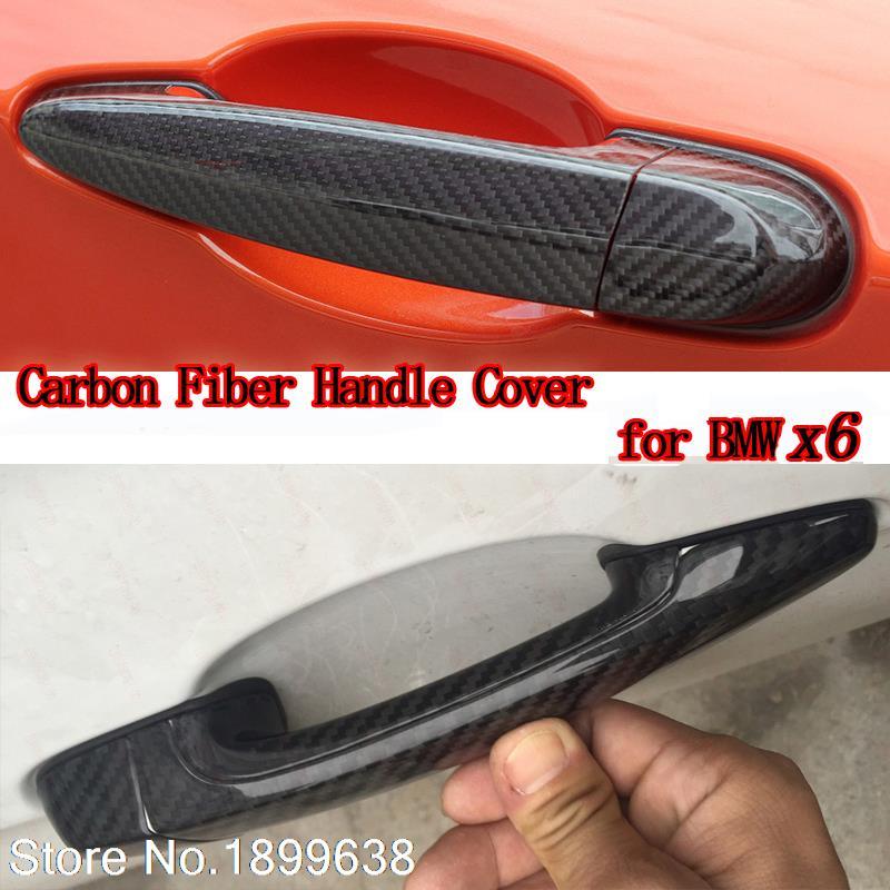 High quality carbon fiber material Plated Door Handle Car Sticker For BMW X6 E71 xDrive35i 50i x6m 40i m50d 2008-2013<br><br>Aliexpress