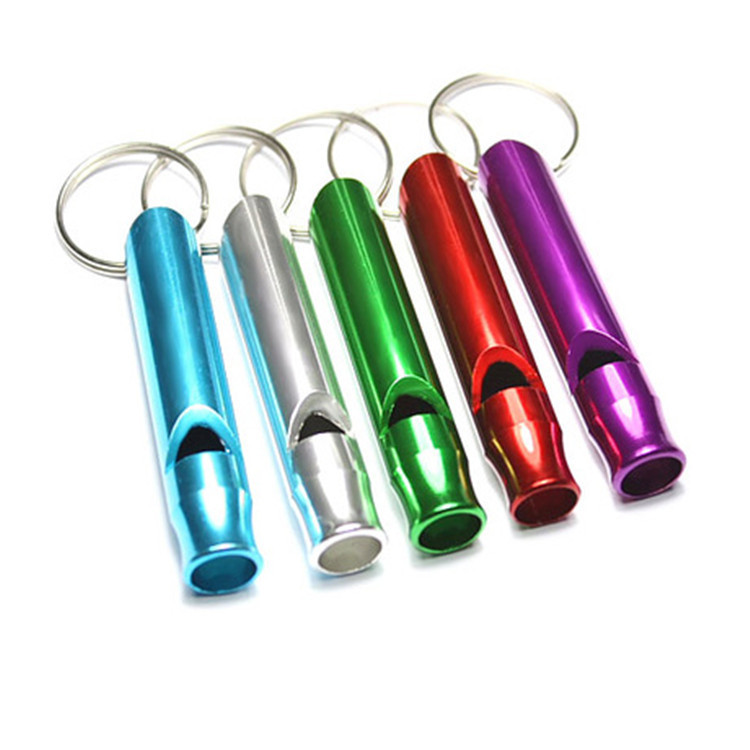 luck100 2015 new Help lifesaving whistle outdoor survival aluminum whistle Travel portable gift ideas(China (Mainland))