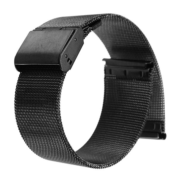 Lowest Price Black 18mm 20mm 22mm 24mm Stainless Steel Mesh Bracelet Strap Replacement Wrist Watch Band(China (Mainland))