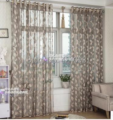 buy high quality morden grey beige gold sheer curtain for bedroom balcony. Black Bedroom Furniture Sets. Home Design Ideas