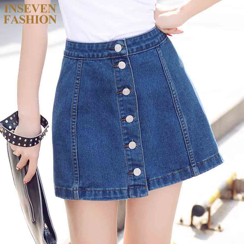 Popular Fashion Jean Skirts-Buy Cheap Fashion Jean Skirts lots ...