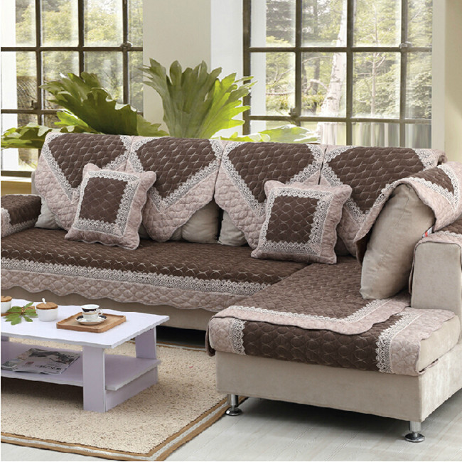 Qi fashion full slip-resistant rustic sofa summer liangdian cloth 100% cotton sofa cushion summer cushion