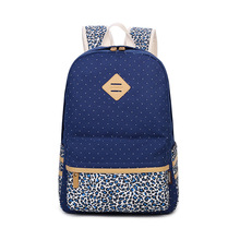 Winner Brand Female Printing Backpack Leopard Canvas School Bag for Teenagers Women Backpack Rucksack(China (Mainland))