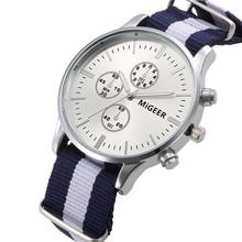 2016 Hot Sale Women Men Canvas Fashion Male Quality Analog Watch Wrist Watches Good-looking Mar 29