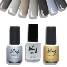 Buy Bling Brand Gray Series UV Nail Varnish 12 Colors Gel Polish Nail Gel Polish UV Lamp Needed Nail Beauty Nail Art for $1.89 in AliExpress store