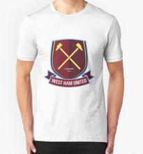 West Ham United 1895 Man T shirt Soccer T-shirt Football Cheering Fans Live Audience short sleeve cotton t shirt free shipping