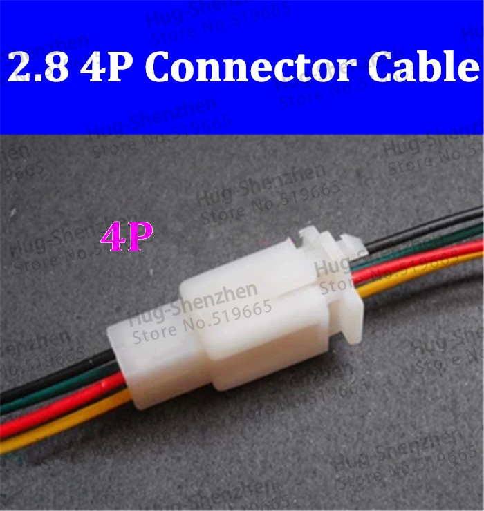 High quality 2.8 connector cable car electric motorcycle air docking connector line 3p to plug(China (Mainland))
