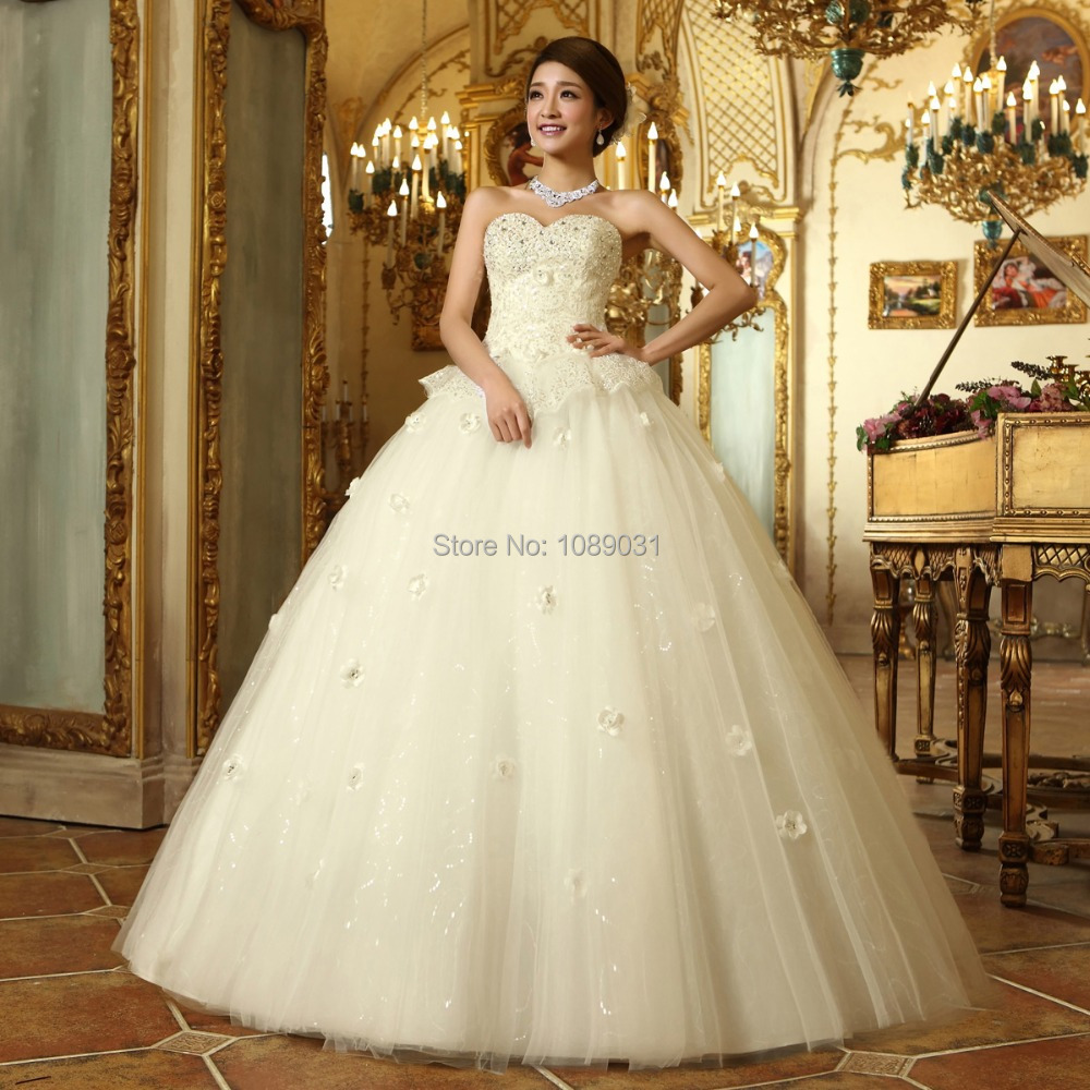 Latest Wedding Dresses And Their Prices : Latest wedding dresses white ivory sweetheart beading bridal gown